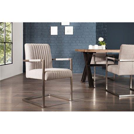 Sada - stolička Privilege mikrovlákno šedá