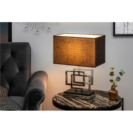 Stolová lampa Leonor 56 cm strieborná