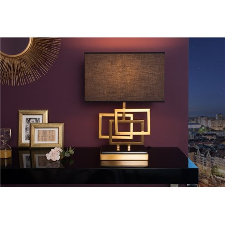 Stolová lampa Leonor 56 cm zlatá