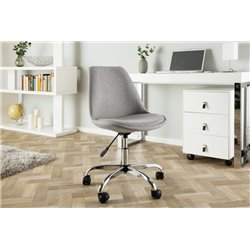 Kancelárska stolička Scandinavia svetlosivá