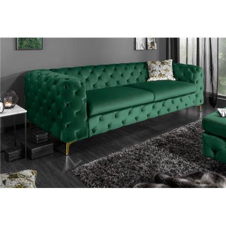 Pohovka Moderné baroko 238 cm zelená zamat