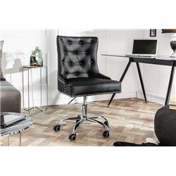 Kancelárska stolička Viktorián čierna koženka