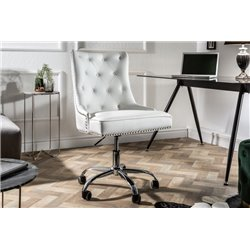 Kancelárska stolička Viktorián biela koženka