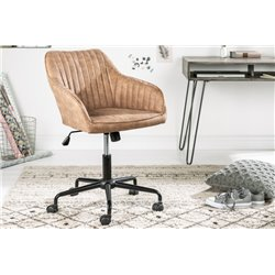 Kancelárska stolička Turin svetlohnedá vintage