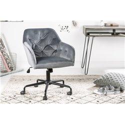 Kancelárska stolička Ayax šedá zamat