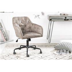 Kancelárska stolička Ayax svetlohnedá zamat