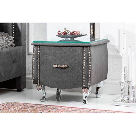 Nočný stolík Extravagancia 45 cm starožitný šedý