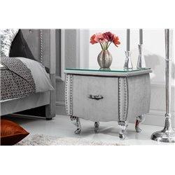 Nočný stolík Extravagancia 45 cm strieborný