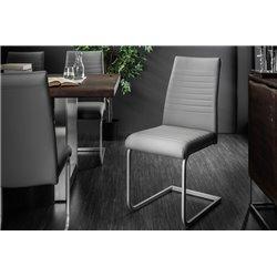 Konzolová stolička Condo šedý chróm (2ks)