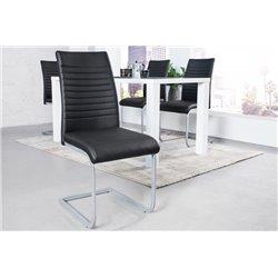 Konzolová stolička Condo čierny chróm (2ks)