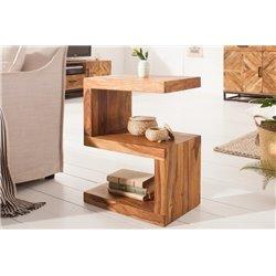 Bočný stolík LETTERS 60 cm Sheesham