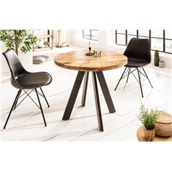 Jedálenský stôl Iron Craft 80 cm kruh prírodný mango