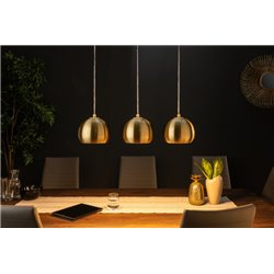 Závesná lampa Golden Ball zlatá sada 3