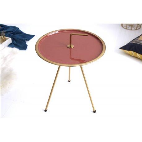Bočný stolík 42 cm korálové zlato