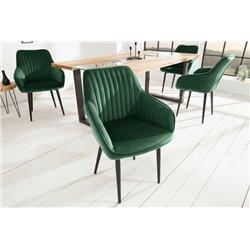 Stolička Toríno zelená zamat (2ks)