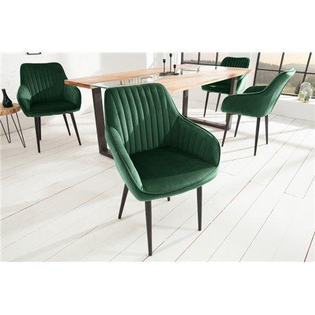 Stolička Toríno zelená zamat