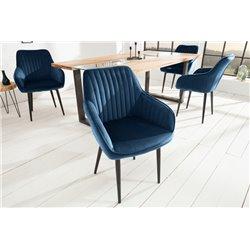 Stolička Toríno kráľovská modrá zamat (2ks)