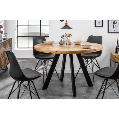 Jedálenský stôl Iron Craft 120 cm okrúhly prírodný mango