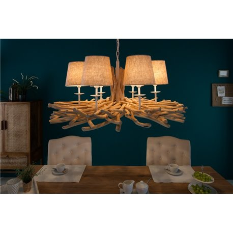 Luster Euphoria II 80cm - naplavené drevo