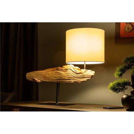 Stolová lampa Organic Artwork 70cm naplavené drevo