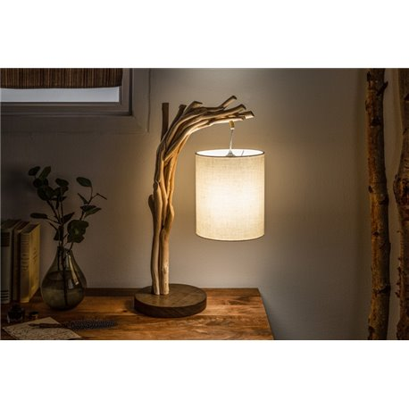 Stolová lampa 60 cm naplavené drevo