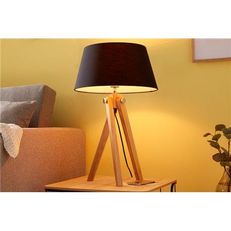 Stojacia lampa Statív 64 cm čierna Retro