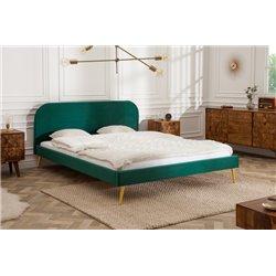 Manželská posteľ London 160 x 200 cm smaragdovo zelená zamat