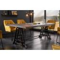 Dizajnový jedálenský stôl Action Industrial 220cm šedá akácia masív