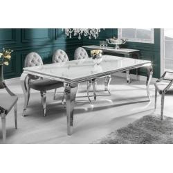 Luxusný jedálenský stôl Gilt 200 cm sivý mramor