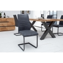 Konzolová stolička Condo antická šedá (2ks)