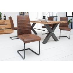 Konzolová stolička Condo antická hnedá (2ks)