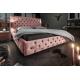 Luxusná posteľ Palais 160x200cm ružová zamat
