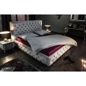 Luxusná posteľ Palais 160x200cm šedá zamat