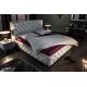 Luxusná posteľ Palais 180x200cm šedá zamat