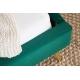 Retro posteľ London 140 x 200 cm smaragdovo-zelená zamat