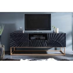 Tv stolík Gobi 160cm mango čierna
