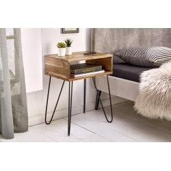 Bočný stôl Gobi 40 cm agát prírodná