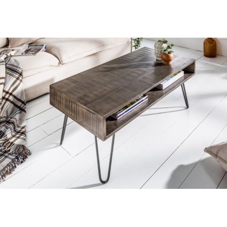 Konferenčný stolík Gobi II 100 cm mango šedá
