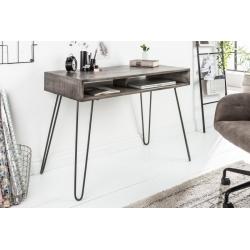 Písací stôl Gobi 100 cm mango šedá